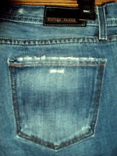 Colins Women's Designer Jeans SIZE 31  792A Low Rise Flare Petro Dark