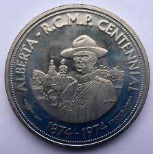 "CANADA TRADE DOLLAR (A) 1874-1974 R.C.M.P. KLONDIKE DAYS EDMONTON ALBERTA ""TOP H"