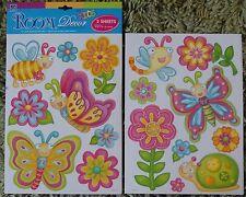Childrens Kids Girls Bedroom Butterfly Flower Wall Stickers Decals Stickarounds