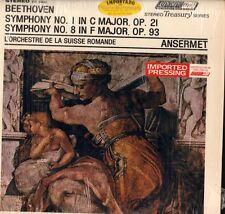 Beethoven(Vinyl LP)Symphony No.1/ 8-Ansermet-London-STS 15032-UK-Ex/Ex