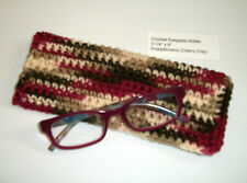 New Unique Handmade Crochet Eye Glass Sunglass Holder Carrier Pinks Browns Tan