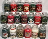 RARE Yankee Candle HOLIDAY CHRISTMAS 22oz LARGE JAR RETIRED WINTER SCENTS U PICK