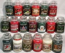 RARE Yankee Candle HOLIDAY 22oz LARGE JAR RETIRED WINTER LIMITD ED SCENTS U PICK