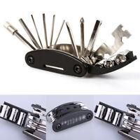 LN_ RockBros Bicycle Repair Tool Bike Pocket Multi Function Folding Tool 16 in