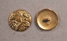 "Set of 6 JHB Gold Round Metal Buttons Deer Tribal Design 13/16"" 20 mm lyk0057"