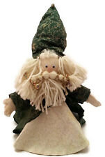 Santa Figure Wizard Viking Father Christmas Green Styrofoam Body Google Eyes 13""