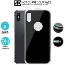 For Apple iPhone X Back Rear Tempered Glass Screen Protector 5D Black