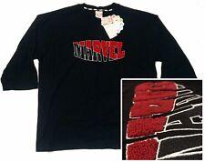 Marvel Comics Japan Large Short Sleeve Sweatshirt: Varsity Style Carpeted Logo