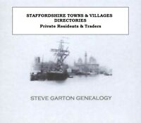 GENEALOGY DIRECTORY FOR TOWNS & VILLAGES IN STAFFORDSHIRE 1828 - 1940