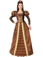 Ladies Tudor Queen Medieval Renaissance Historical Princess Fancy Dress Costume