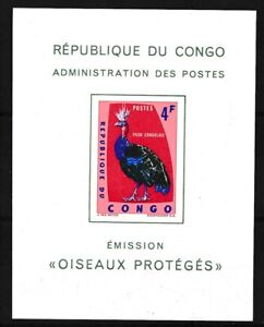 [39332] Congo 1963 Bird Good Deluxe sheet Very Fine MNH