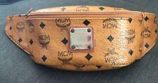 Vintage MCM Women's fanny Pack Visetos Coated Canvas RARE Bag Fanny Pack, Tan