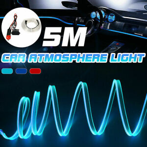 Car Interior LED Cold Light Strip Accessories Fits VW CC Tiguan Polo EOS Passat