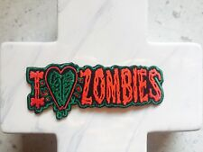 I Love Zombies Death Grave Walking Dead Horror Stitched  Iron On Patches Patch
