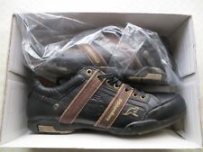 zapatos kangaroos piel autentica t. 45 negros marron nuevos genuineleather
