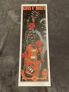 Guns N Roses Lithograph Not In This Lifetime Tulsa,OK #159/300 11/14/17 Original