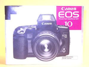 Original(!) Canon EOS 10 Instruction Manual - in Swedish!