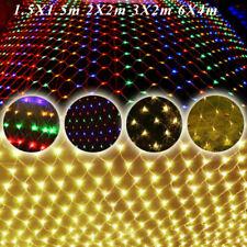 LED Lichternetz Innen Außen Lichterkette Netz Lichtervorhang Garten Merhfarbig