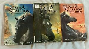 black stallion books Lot Of 3 Walter Farley softcover books