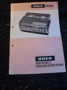 Original Beschreibung Uher 4000 Report L/4200/4400 (Tonband-Gerät)