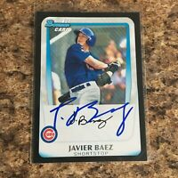 Javier Baez Javy Signed 2011 Bowman Draft Rc Auto Chicago Cubs