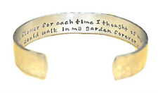 Mother's Day / Mom Gift - If I had a flower... Custom Hand Stamped Cuff Bracelet