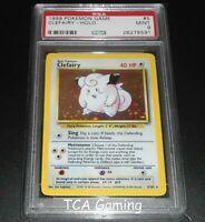 PSA 9 MINT Clefairy 5/102 Base Set HOLO RARE Pokemon Card