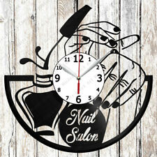 Nail Salon Vinyl Wall Clock Made of Vinyl Record Original gift 2397