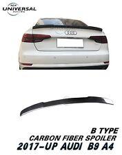 Carbon Fiber Trunk Spoiler Lip For 17-18 Audi A4 B9 /Quattro/S4 Sedan Type B