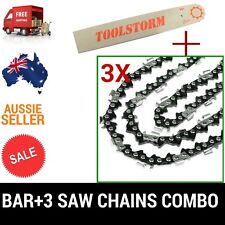 "12"" BAR & 3 CHAINS COMBO 3/8""LP 050 44DL FOR CHAINSAW POLE SAW PARTS MULTI-TOOLS"