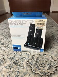 Nintendo Wii U Nyko Dual Charge Station Rechargeable Battery Packs 2