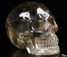 "GEMSTONE 2.0"" SMOKY QUARTZ ROCK CRYSTAL  Carved Crystal Skull, Crystal Healing"