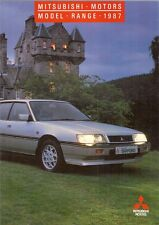 Mitsubishi 1987-88 UK Market Brochure Colt Lancer Cordia Galant Sapporo Starion
