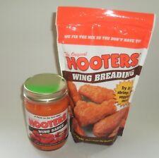 New Combo Lot 12oz Jar Original Hooters Hot Wing Sauce Hot &1lb Breading