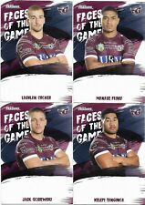 2019 Nrl Traders Faces of the Game 4 Card Set SEA EAGLES