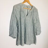 Joie 100% silk printed long sleeve blouse top Womens size large