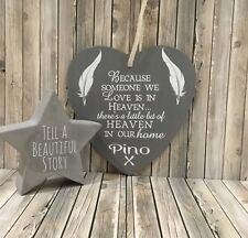 Personalised Heart Shaped Remembrance Memorial Wall Plaque.