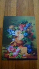 """7 x 3.5"""" Stereogram 3D Poster Stunning Flower Vase/ Still Art"""