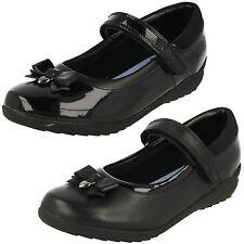 Girls Clarks Smart School Shoes Ting Fever INF UK 11.5 Kids Black Leather G