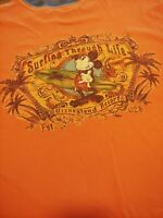 Mickey Mouse Surfing Through Life Disneyland Resort T-Shirt Adult Size Large