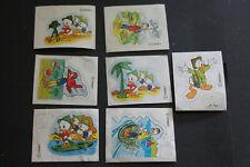 Steckfiguren  - 7 Folienträger aus Donald und seine Freunde auf Safari