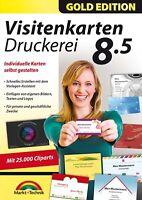 Visitenkarten Druckerei 8.5 -Gold Edition- Download Version inkl. 20000 Cliparts