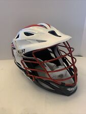 Cascade R series Lacrosse Helmet White/Red/Black Chrome  Mens One Size Fits Most