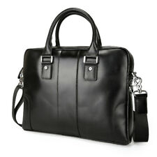 "Real Leather Briefcase For Men 14"" Laptop Attache Shoulder Messenger Bag Satchel"