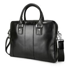 "Men Real Leather 14"" Laptop Briefcase Messenger Shoulder Bag Satchel Attache"