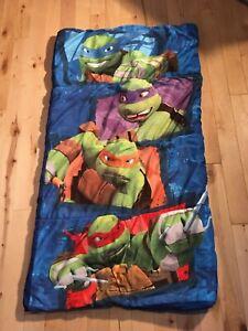 VINTAGE 90's TEENAGE MUTANT NINJA TURTLES BOYS SLEEPING BAG- RARE!