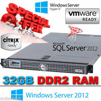 "DELL POWEREDGE 1950 III 2x 3.0GHz X5450 QUAD CORE 32GB DDR2 (2x 3.5"" 146GB SAS)"