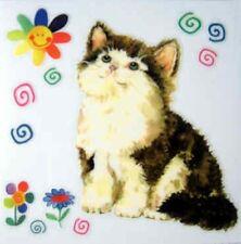 Kitten Cat DIY Rub On Permanent Transfer Glass Tile Scrapbooking Plastic DT108