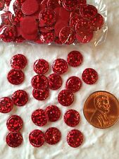 100 dots spots Sparkle red fabric circles Small Cards Christmas Trees balls