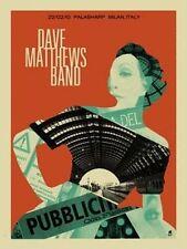 Dave Matthews Band Poster Palasharp Milan Italy 2010 Signed & Numbered #/400